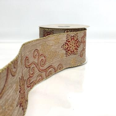 Natural Ribbon Glitter Swirls 63mm