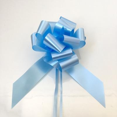 20 x Light Blue 50mm Waterproof Poly Pull Bows