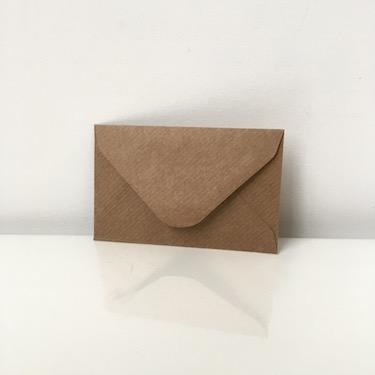 Brown Kraft Envelopes 70 x 110mm | Florist, Wedding and
