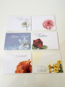 Funeral Cards Large