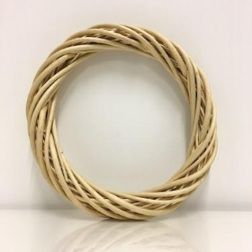 Wicker Wreath Ring Natural 30cm