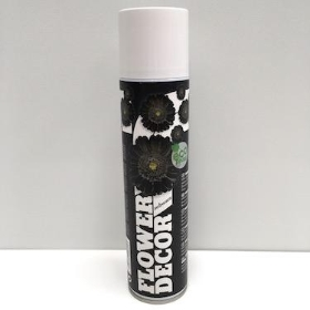 Flower Spray Paint Black