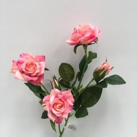 Pink Spray Rose 59cm