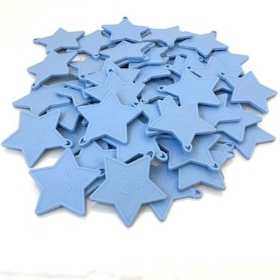 Light Blue Star Plastic Balloon Weights