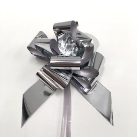 Metallic Silver Pull Bow 50mm