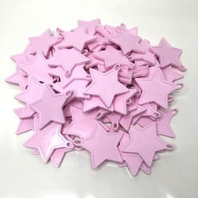 Pale Pink Star Balloon Weights x 100