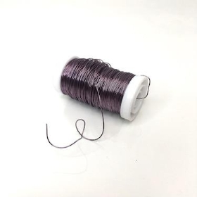 Lilac Metallic Reel Wire 100g