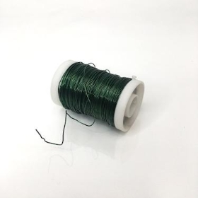 Dark Green Metallic Reel Wire 100g