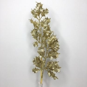 Gold Glitter Holly 68cm