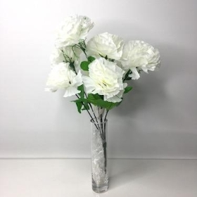 Ivory Carnation Bush 36cm