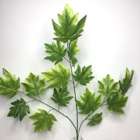 Green Maple Leaf Spray 70cm