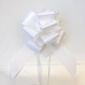 20 x White Pull Bow 50mm