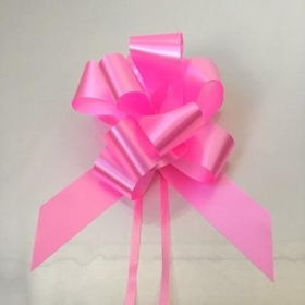 20 x Rose Pink Pull Bow 50mm