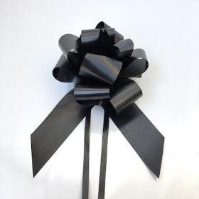 20 x Black Pull Bow 50mm
