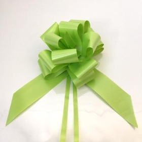 20 x Lime Green Pull Bow 50mm