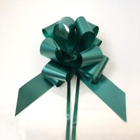 20 x Hunter Green Pull Bow 50mm
