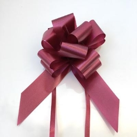 20 x Burgundy Pull Bow 50mm