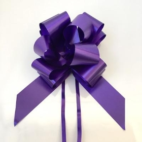 20 x Purple Pull Bow 50mm