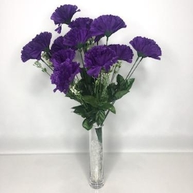 Purple Carnation Bush 46cm
