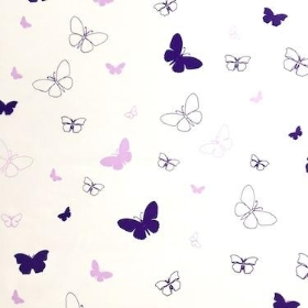 Purple Lilac Butterfly Cellophane 100m