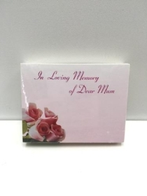 Small Florist Cards Mum Pink