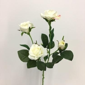 Ivory Spray Rose 59cm
