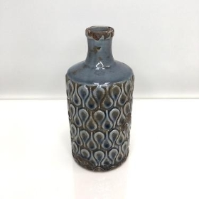 Blue And Grey Bottle 21cm