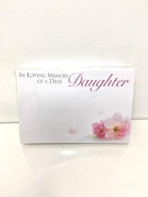 Small Florist Cards Daughter blossom