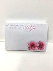 Small Florist Cards Wife Gerbera