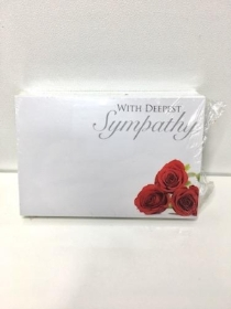 Small Florist Cards With Deepest Sympathy