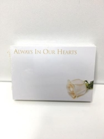 Small Florist Cards Always In Our Hearts