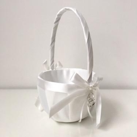 White Bridesmaid Basket
