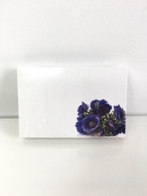 Small Florist Cards Blue Anemone