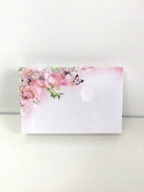 Small Florist Cards Pink Flowers