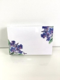 Small Florist Cards Blue Orchids
