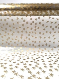 Cellophane Wrap Stars gold or silver 10m