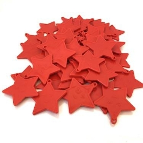 Red Star Plastic Balloon Weights