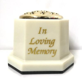 Ivory In Loving Memory Memorial Pot