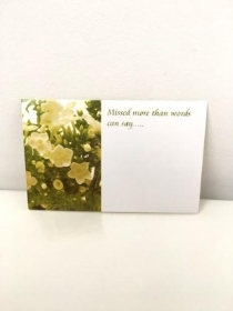 Florist Cards Missed more than words can say