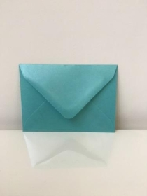 C7 Pearl Turquoise Envelopes