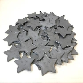 100 Silver Star Balloon Weights