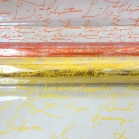 Scribble Design Cellophane 100m