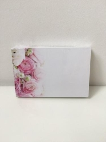 Florist Funeral Cards Rannunculus Pink and White