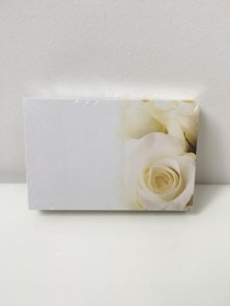 Florist Funeral Cards Cream Rose