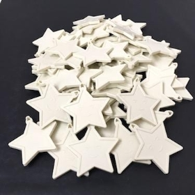 Ivory Star Balloon Weights