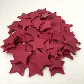 Burgundy Star Balloon Weights