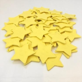 Pastel Yellow Star Balloon Weights