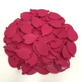 Cerise Balloon Shape Weights