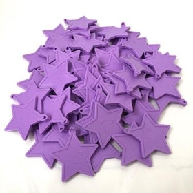 Lilac Star Plastic Balloon Weights