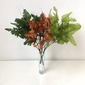 Leather Leaf Bunch 36cm